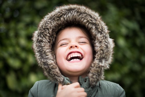 Child smiling showing nice teeth before he needs orthodontics Glasgow